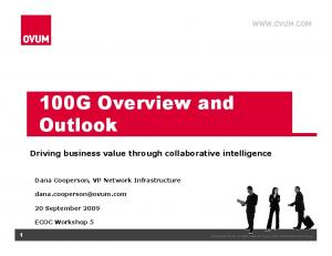 100G Overview and Outlook