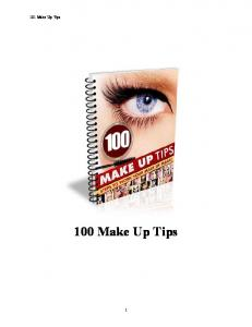 101 Make Up Tips. 100 Make Up Tips