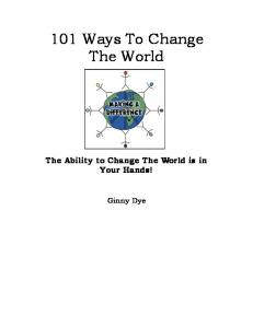 101 Ways To Change The World