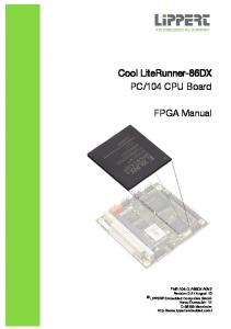 104 CPU Board. FPGA Manual