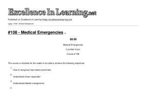 #108 - Medical Emergencies [1]