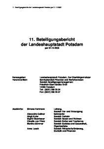 11. Beteiligungsbericht der Landeshauptstadt Potsdam per