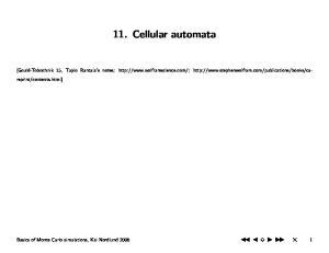 11. Cellular automata