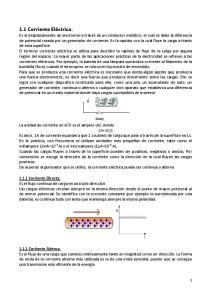 1.1 Corriente Eléctrica Corriente Directa Corriente Alterna