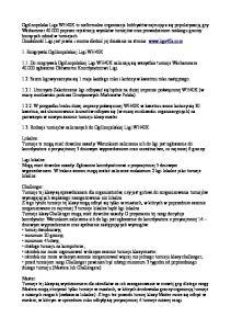 1.1. Do rozgrywek Ogólnopolskiej Ligi WH40K zaliczają się wszystkie turnieje Warhammera zgłoszone Głównemu Koordynatorowi Ligi