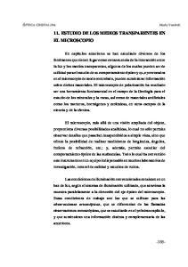 11. ESTUDIO DE LOS MEDIOS TRANSPARENTES EN EL MICROSCOPIO