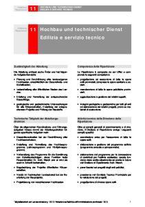 11 Hochbau und technischer Dienst