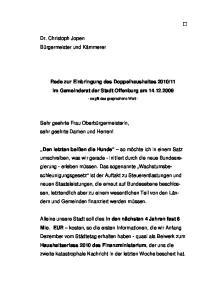 11 im Gemeinderat der Stadt Offenburg am