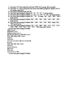 11) John Deere parts catalogs for Models