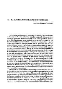 11. LA SOCIEDAD RURAL: LOS AGRICULTORES