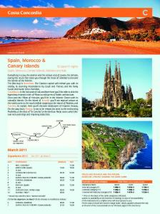 11 nights Spain, Morocco, Canary Islands, Madeira and Italy