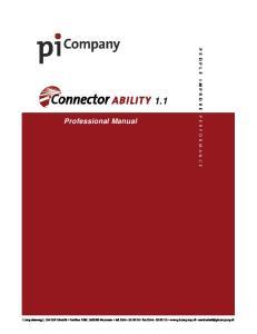 1.1. Professional Manual P E O P L E I M P R O V E P E R F O R M A N C E