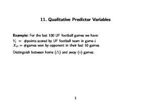 11. Qualitative Predictor Variables