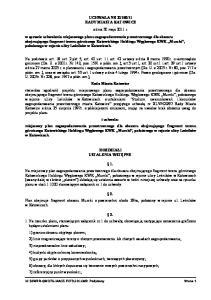 11 RADY MIASTA KATOWICE z dnia 30 maja 2011 r. w sprawie uchwalenia miejscowego planu zagospodarowania przestrzennego dla obszaru