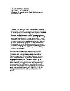 11. REALIZACIÓN DEL CAPITAL (407,14-433,5; 351,10-374,44) (Cuaderno IV, desde la página 40 a la 50 del manuscrito, en enero de 1858)