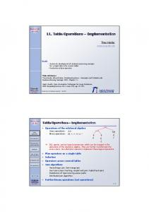11. Table Operations Implementation