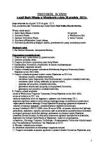 11 z sesji Rady Miasta w Myszkowie z dnia 28 grudnia 2011r