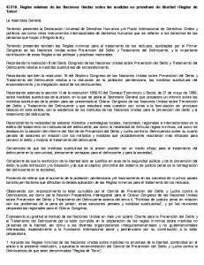 110. Reglas mínimas de las Naciones Unidas sobre las medidas no privativas de libertad (Reglas de Tokio)