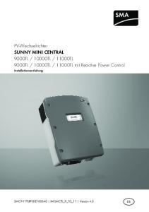 11000TL mit Reactive Power Control