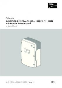 11000TL with Reactive Power Control