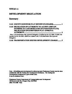 11.03 TRANSPORTATION SYSTEM DEVELOPMENT CHARGE... 5