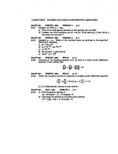 112CHAPTER 5. FOURIER AND PARTIAL DIFFERENTIAL EQUATIONS