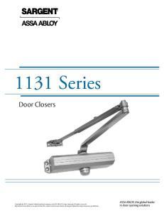 1131 Series. Door Closers