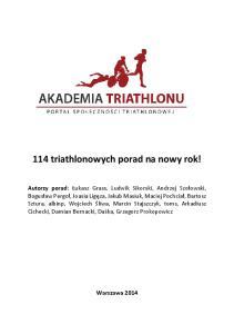 114 triathlonowych porad na nowy rok!