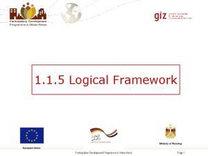 1.1.5 Logical Framework