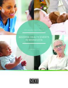 11TH ANNUAL PUBLIC REPORT ADVERSE HEALTH EVENTS IN MINNESOTA