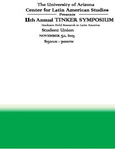 11th Annual TINKER SYMPOSIUM