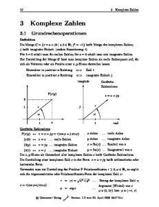 12 3 Komplexe Zahlen. P(x y) z = x + jy