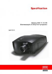 12 EX Stereoscopic 3-Chip DLP projector. April 2014
