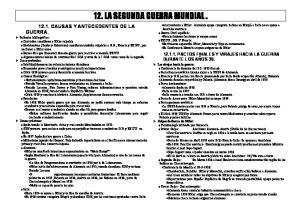 12. LA SEGUNDA GUERRA MUNDIAL