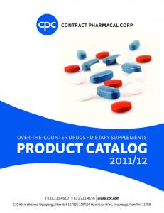 12 OVER-THE-COUNTER DRUGS DIETARY SUPPLEMENTS