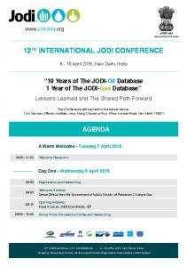 12 TH INTERNATIONAL JODI CONFERENCE