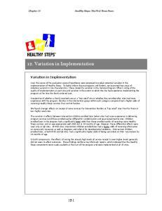 12. Variation in Implementation
