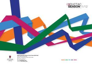 12. visual art. dance. film. music. theatre. 10 Nov Feb 2012