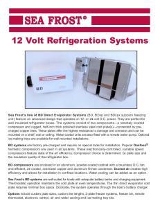 12 Volt Refrigeration Systems