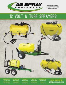 12 Volt & turf sprayers