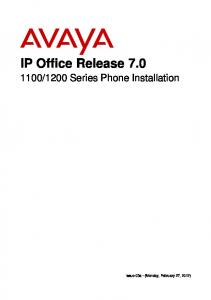 1200 Series Phone Installation
