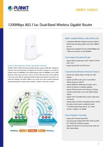1200Mbps ac Dual-Band Wireless Gigabit Router