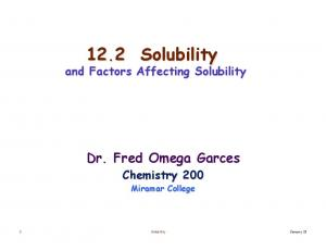 12.2 Solubility and Factors Affecting Solubility