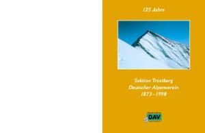 125 Jahre Sektion Trostberg Deutscher Alpenverein