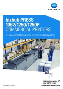 1250P COMMERCIAL PRINTERS