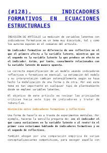 (#128). INDICADORES FORMATIVOS EN ECUACIONES ESTRUCTURALES