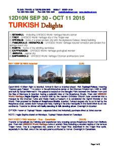 12D10N SEP 30 - OCT TURKISH Delights