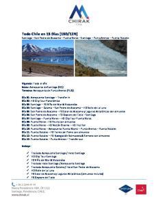 12N) Santiago San Pedro de Atacama Puerto Varas Santiago Punta Arenas Puerto Natales
