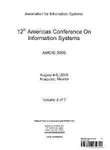 12th Americas Conference On