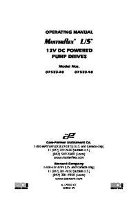 12V DC POWERED PUMP DRIVES